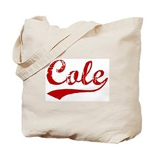 Cole (red vintage) Tote Bag