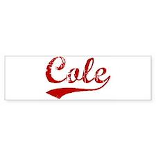 Cole (red vintage) Bumper Bumper Sticker