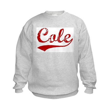 Cole (red vintage) Kids Sweatshirt