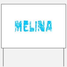 Melina Faded (Blue) Yard Sign