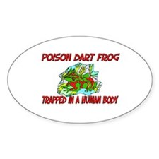 Poison Dart Frog trapped in a human body Decal