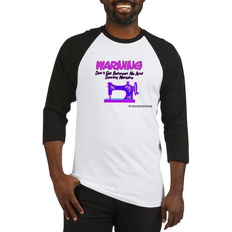 Warning Sewing Machine Baseball Jersey