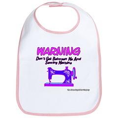 Warning Sewing Machine Bib