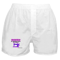 Warning Sewing Machine Boxer Shorts