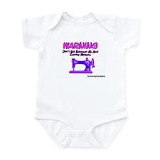 Warning Sewing Machine Infant Creeper