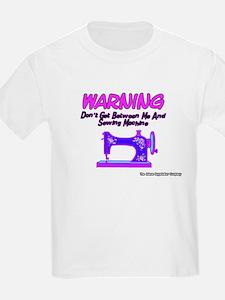 Warning Sewing Machine Kids T-Shirt