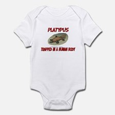 Platypus trapped in a human body Infant Bodysuit
