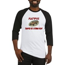 Platypus trapped in a human body Baseball Jersey