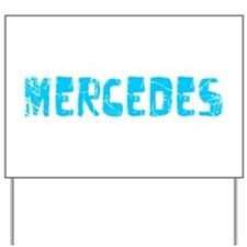 Mercedes Faded (Blue) Yard Sign