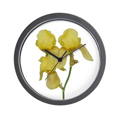 Golden Iris Wall Clock