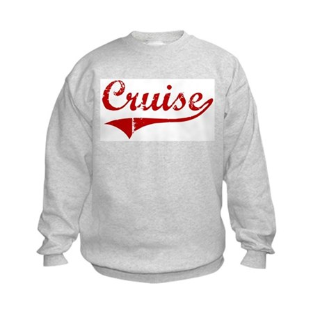 Cruise (red vintage) Kids Sweatshirt