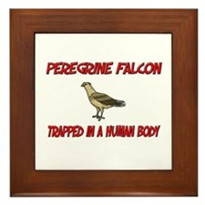 Peregrine Falcon trapped in a human body Framed Ti