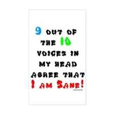 I Am Sane! Rectangle Decal