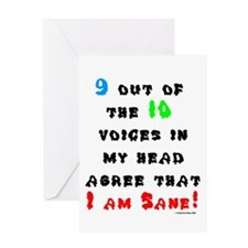 I Am Sane! Greeting Card