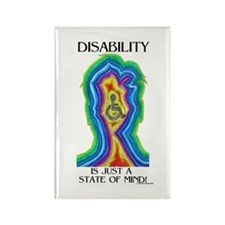 Disability is Just a State Rectangle Magnet