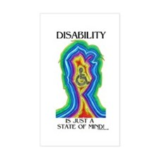 Disability is Just a State Rectangle Decal