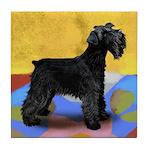 SCHNAUZER DOG BLACK Tile Coaster