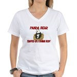 Panda Bear trapped in a human body Women's V-Neck