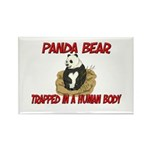 Panda Bear trapped in a human body Rectangle Magne