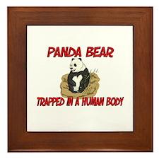 Panda Bear trapped in a human body Framed Tile