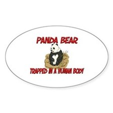 Panda Bear trapped in a human body Oval Decal