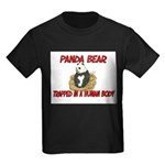 Panda Bear trapped in a human body Kids Dark T-Shi