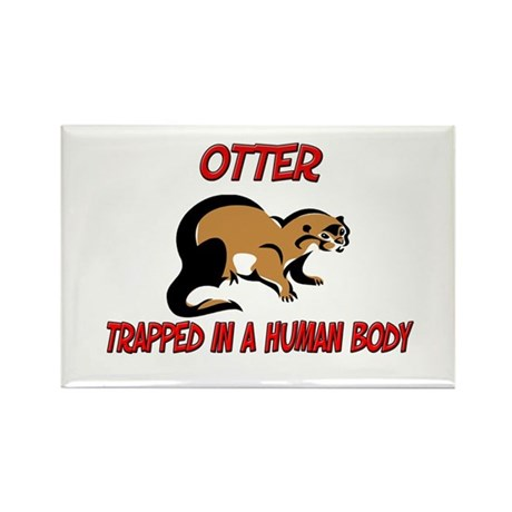 Otter trapped in a human body Rectangle Magnet