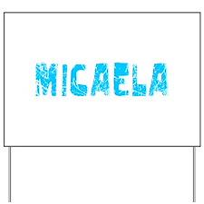 Micaela Faded (Blue) Yard Sign