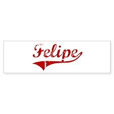Felipe (red vintage) Bumper Bumper Sticker