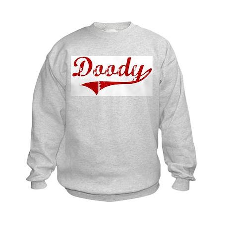 Doody (red vintage) Kids Sweatshirt