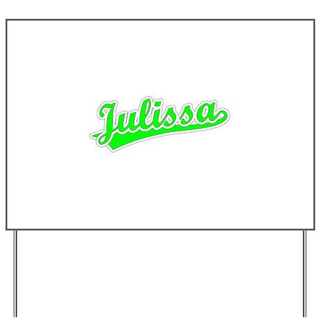 Retro Julissa (Green) Yard Sign