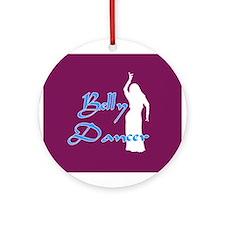 Maroon Belly Dancer Keepsake (Round)