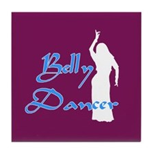 Maroon Belly Dancer Tile Coaster