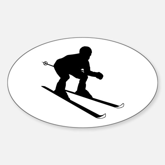 SKIER Oval Decal