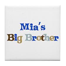 Mia's Big Brother Tile Coaster