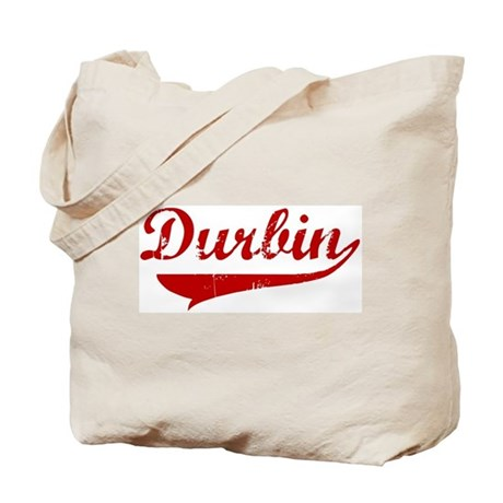 Durbin (red vintage) Tote Bag