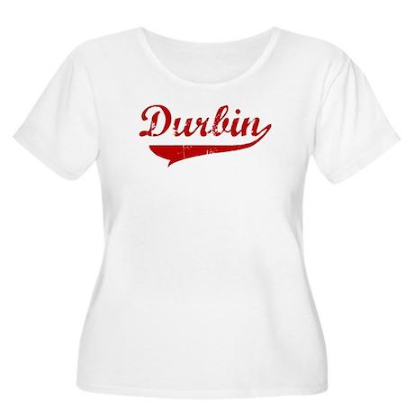 Durbin (red vintage) Women's Plus Size Scoop Neck