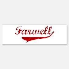 Farwell (red vintage) Bumper Bumper Bumper Sticker