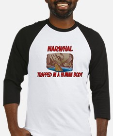 Narwhal trapped in a human body Baseball Jersey