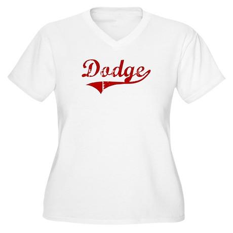Dodge (red vintage) Women's Plus Size V-Neck T-Shi