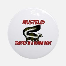 Mustelid trapped in a human body Ornament (Round)