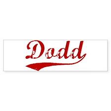 Dodd (red vintage) Bumper Bumper Sticker