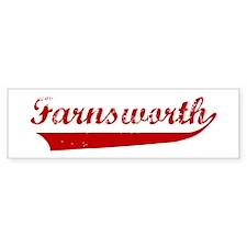 Farnsworth (red vintage) Bumper Bumper Sticker