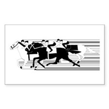 HORSE RACING! Rectangle Sticker 50 pk)