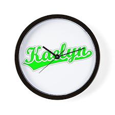 Retro Kaelyn (Green) Wall Clock