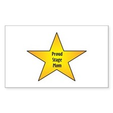 Proud Stage Mom Rectangle Decal