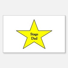 Proud Stage Dad Rectangle Decal