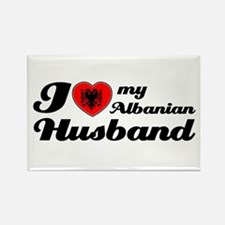 I love my Albanian Husband Rectangle Magnet