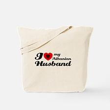 I love my Albanian Husband Tote Bag