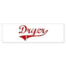 Dryer (red vintage) Bumper Bumper Sticker